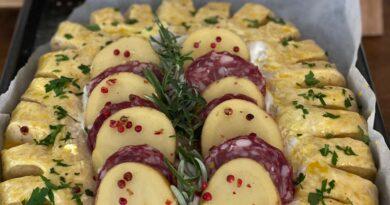 brioche patate e salame